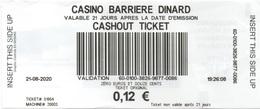 Ticket Cashout : Casino Barrière Dinard (Département 35) - Casinokarten