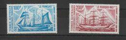TAAF 1975 Bateaux D'expéditions PA 38-39 2 Val ** MNH - Airmail
