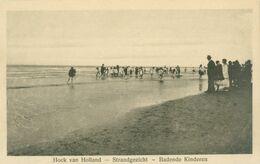 Hoek Van Holland; Strandgezicht. Badende Kinderen - Niet Gelopen. (Joh. Lips - Hoek Van Holland) - Hoek Van Holland