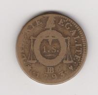 1 SOL 1793 STRASBOURG - 1789-1795 Period: Revolution