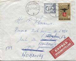 REF1692/ TP 1071 Baudouin Lunettes-1336 S/L.Exprès C.Welkenraedt 6/7/65 > Hombourg > Plombières > Hombourg - Belgien