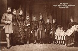 Ihre Majestät Königin Maria Theresia Mit Kindern 1888 - Königshäuser