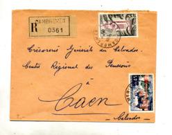 Lettre Recommandée Cambremer Sur Sully Tlemcen - Poststempel (Briefe)