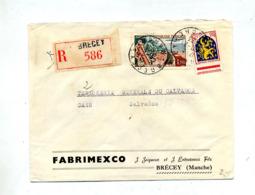 Lettre Recommandée Brecey Sur Touquet Nevers - Poststempel (Briefe)