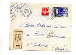 Lettre Recommandée La Frette Sur Seine Sur Reunion Lille - Poststempel (Briefe)