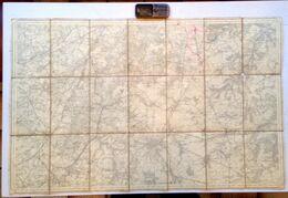 Situation ©1897 NIVELLES CARTE D ETAT MAJOR 39 Entoilée BRAINE-LE-COMTE TUBIZE WATERLOO BRAINE-L'ALLEUD GENAPPE Z965 - Nivelles