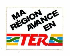 Autocollant Ma Région Avance En TER- Format : 6.5x9cm - Stickers