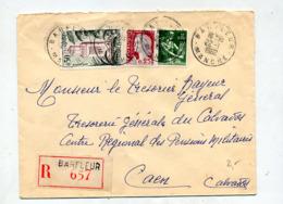 Lettre Recommandée Barfleur Sur Decaris Moisson Tlemcen - Poststempel (Briefe)