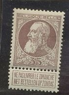 77 **  35c    Cote 145,- Euros   Sans Charnière - 1893-1900 Thin Beard