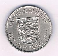 10 NEW  PENCE 1975 JERSEY 6718/ - Jersey