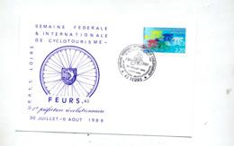 Carte Cachet  Feurs Semaine Cyclotourisme Prefecture Revolutionnaire - Cachets Commémoratifs
