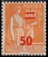 France N°  481 ** Type Paix Surchargé, Le 50c Sur 80c Orange - Nuevos