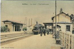 EURE  : Gaillon , La Gare, Carte Couleur Toilée... - Otros Municipios