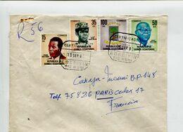 GUINEE EQUATORIAL 1980 - Affranchissement 35 + 15 + 100 + 50 Bk Sur Lettre Recommandée Pour La France - Guinea Ecuatorial