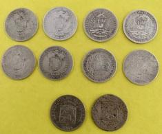 8X BOLIVAR SILVER: 1919 -1929 -1935 - 2X 1936 -1945 - 2X 1954 + 2X 12 1/2 CENTIMOS 1946 - 1958 - Venezuela