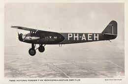Twee Motorig Fokker F-VIII Verkeersvliegtuig KLM Foto Copyright - 1919-1938: Between Wars