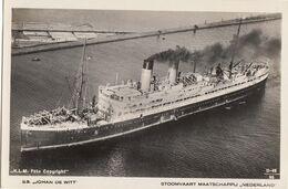 Stoomvaart Mij Nederland SS Johan De Wit KLM Foto - Dampfer