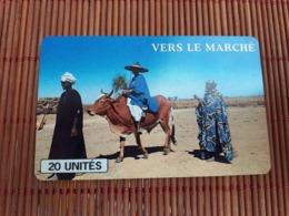 Phonecard Mali Vers Le Marche Used 2 Scans Rare ! - Mali