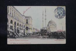 LEVANT FRANÇAIS - Affr. Type Blanc De Constantinople Sur Carte Postale En 1906 Pour Paris - Léger Pli - L 69705 - Lettres & Documents