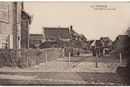 LA PANNE RUE DU VILLAGE GUERRE 14 18 FRANCHISE CACHET A DATE POSTES MILITAIRES  BELGIQUE 12 IX 15 - Oorlog 1914-18