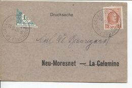 REF1696/ TP 192 Albert Houyoux S/CP C.La Calamine - Neu-Moresnet 24/6/26 > Neu Moresnet Taxée 5c TTx 33 Coupé En 2 - Portomarken