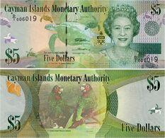 CAYMAN IS.        5 Dollars       P-39a       2010       UNC  [ Prefix: D/I ] - Isole Caiman