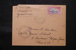 GUADELOUPE - Enveloppe De Capesterre Pour La France En 1940 Avec Cachet De Contrôle Postal  - L 69718 - Lettres & Documents