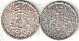 Mozambique 10 Escudos – 1954 &1960 - Mozambique