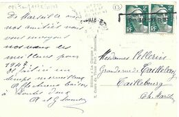 TIMBRES N° 713 -  MARIANNE DE GANDON  2F VERT  -   TARIF CPI   - 1 2 47  -     -  1947 - Marcofilia (sobres)