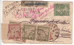 Enveloppe 5c SEMEUSE Abus Tarif OPR Déc. 1920  TAXE AMENDE (TRIPLE!) Très Bonne Date Pour Le 1F Banderole ! - Taxes