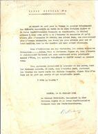 GUERRE 39/45. NARVIK .ORDRE GENERAL CORPS EXP FR ETATS SCANDINAVES.REMERCIEMENT GENERAL BETHOUART .SIGNE - Historische Dokumente