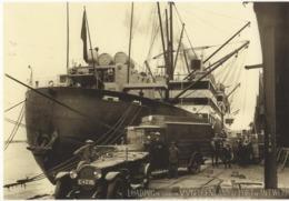 Loading Of Goods On SS Belgenland At Port Of Antwerp 1920s   -  Red Star Line  -  CPM - Piroscafi