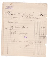 Facture 1937 J. AMIEL, Représentant De Commerce, Salles-d'Aude - France