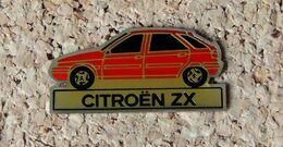 Pin's CITROËN ZX Rouge - Verni époxy - Fabricant Inconnu - Citroën