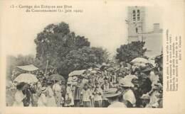 HYERES CORTEGE DES EVEQUES AUX FETES DU COURONNEMENT 21 JUIN 1909 - Hyeres