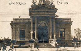 CHISINAU-BASARABIA-BANCA ORASULUI-1924 PHOTOPOSTCARD - Moldavia