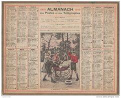ALMANACH Des POSTES 1919  Le Remplaçant - Tout Beau Calendrier - Calendars