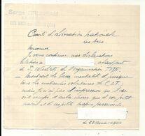 GUERRE 39/45. COMITE D'EPURATION DES ARCS . 83 .DELATION . ORGANISATION TODT - Documentos