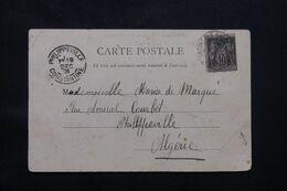 LEVANT FRANÇAIS - Affranchissement Sage De Constantinople Sur Carte Postale En 1901 Pour Philippeville - L 69742 - Lettres & Documents
