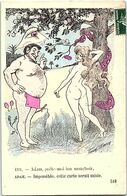 ILLUSTRATEURS - SAGER - XAVIER -- Eve - Adam ,prête Moi Ton Mouchoir - Adam Impossible, Cette Carte Serait Saisie - Sager, Xavier