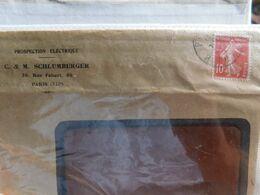 Enveloppe Timbrée Publicitaire, Prospection Electrique C & M Schlumberger, Paris - Publicidad