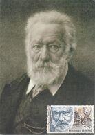 Carte Maximum Littérature Tchad Victor Hugo 1985 - Tschad (1960-...)