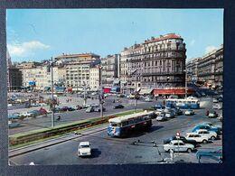 CPSM Marseille Quai Belges Rue République Renault Dauphine Peugeot 404 Simca Aronde Bus Magasin La Samaritaine - PKW