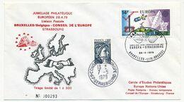 BELGIQUE => Env. Jumelage Philatélique Européen Bruxelles => Conseil De L'Europe Strasbourg 28/4/79 -- 7/5/79 - Brieven En Documenten