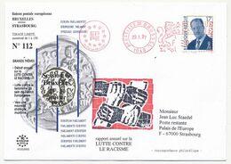 BELGIQUE => Env. Liaison Postale Européenne Bruxelles => Strasbourg 29/01/97 - Storia Postale
