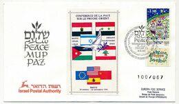 ISRAEL - Conférence De La Paix Sur Le Proche Orient - 30/10/91 - Briefe U. Dokumente