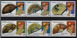 CUBA 2014. EL LENGUAJE DEL ABANICO. MNH. EDIFIL 5925/30 - Unused Stamps