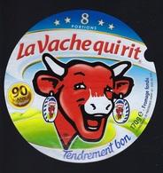 Etiquette Fromage La Vache Qui Rit 8 Portions 170g 90 Ans De Qualité - Käse