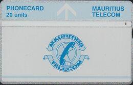 Mauritius L&G Mau 22c  Telecom's Logo - 20 Units Blue Line Under Logo 605A - Maurice