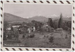 4AG1374 VANDOEUVRES ET LE MONT BLANC 1939  2  SCANS Cachet Censure ZA 551 AUTOROUTE MILITAIRE - GE Genève